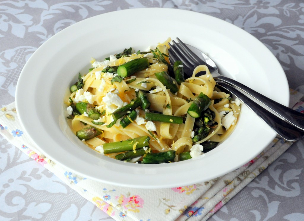 Fresh Pasta with Asparagus, Goat's Cheese and Lemon - Ren Behan Food ...