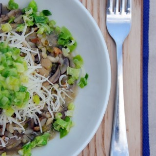 British Baby Leek and Mushroom Three Grain Risotto