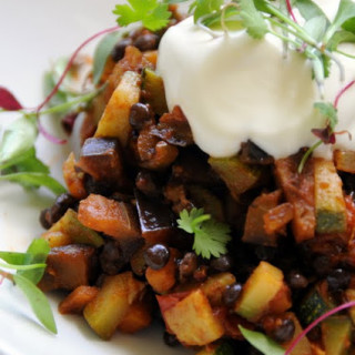 Spiced Seasonal Vegetables with Puy Lentils