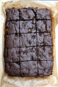 Pear & Chocolate Brownies