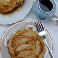 Buckwheat and Buttermilk Pancakes (with Pears and Maple Syrup)