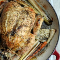 Polish Supper: Marjoram Steam Roasted Chicken