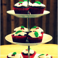 Chocolate Christmas Pudding Cupcakes