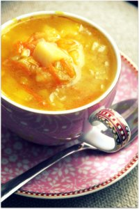 Golden Leek Soup
