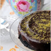 Vegan Chocolate Cake with Pistachio Nuts