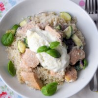 Fish is the Dish: Young's Easy Cook Salmon with Couscous, Crème Fraîche and Parmesan