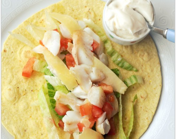Fish is the Dish: Wild Scottish Haddock-Filled Corn Tortilla Wraps