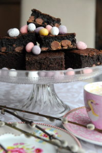 Everyday Brownies with leftover Mini Eggs