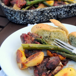In Season: Welsh Lamb with New Potatoes and Asparagus (One Pan)