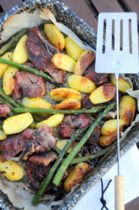 Welsh Lamb with New Potatoes and Asparagus