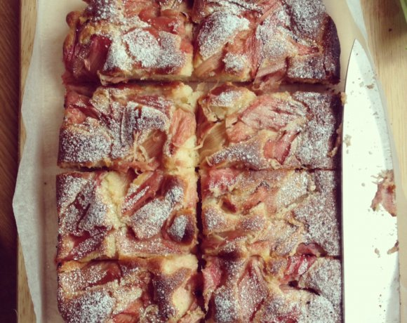 In Season: Easy Rhubarb Traybake