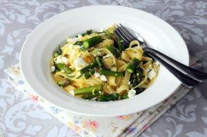 Asparagus & Goat's Cheese Pasta