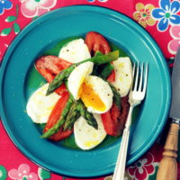 British Asparagus, Mozzarella Salad