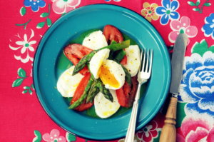 British Asparagus, Mozzarella, Tomato and Egg Salad