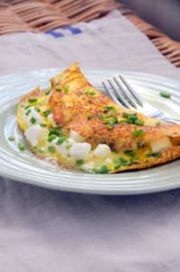 Feta and Chive Omelette