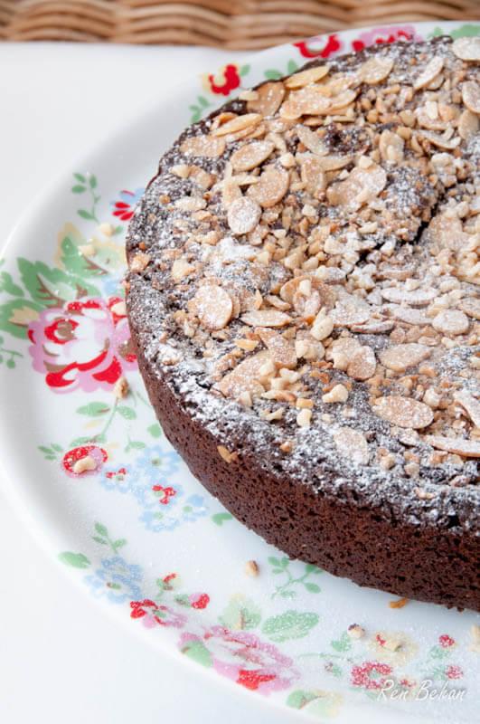 Chocolate, Hazelnut and Almond Brownie Cake - Ren Behan Food ...