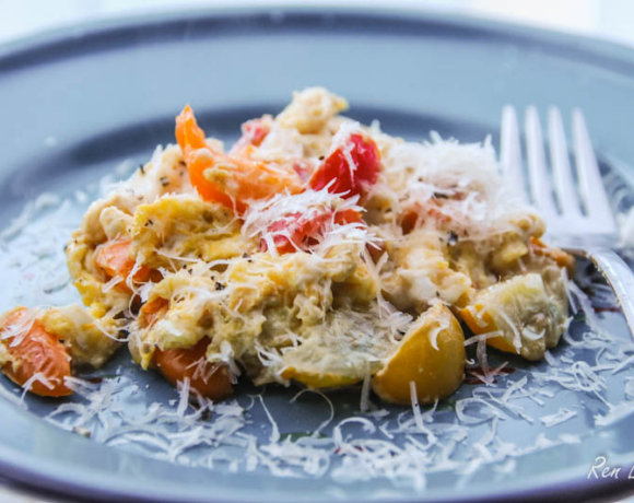 Meli Melo Tomato and Parmesan Scramble