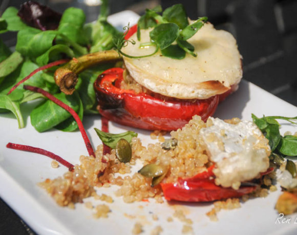 Roasted Peppers with Quinoa and Capricorn Goats Cheese