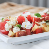 Silvena Rowe's Watermelon and Feta Salad with Za'atar Crumble