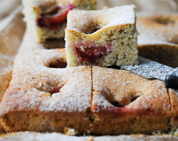 Use Up Your Glut: Poppy Seed and Plum Cake Recipe