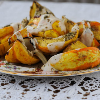 Roasted Squash with Tahini and Za'atar from 'Jerusalem'