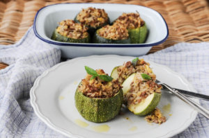 Stuffed Globe Courgette