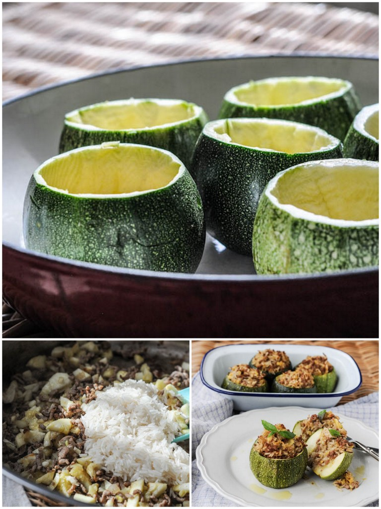 Stuffed Globe Courgettes