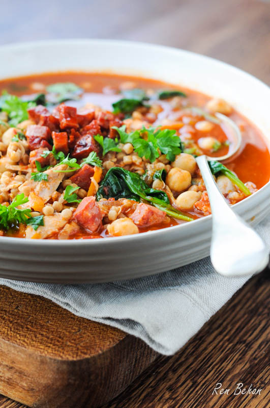 Recipe: Chicken, Chorizo and Chickpea Soup - Fabulicious Food