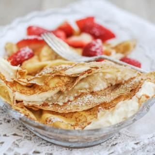 Polish Sweet Cream Cheese Pancakes (Nalesniki)