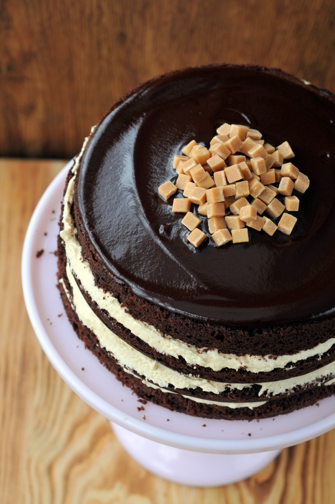 Salted Caramel Chocolate Fudge Cake
