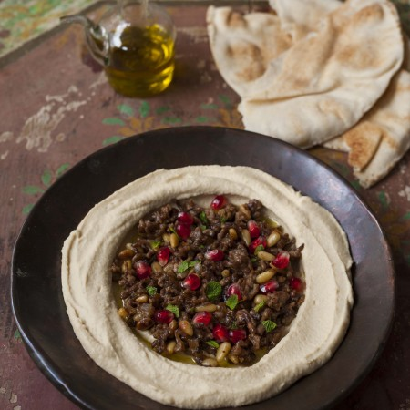Whipped Hummus with Lamb