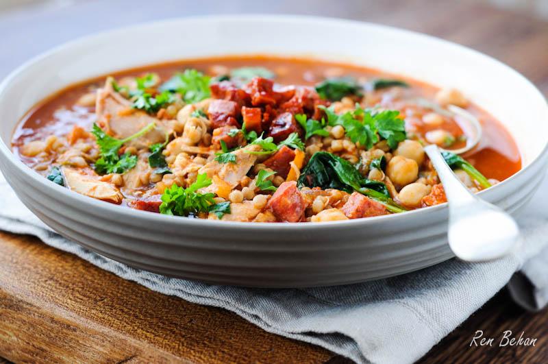 Chicken & Chrorizo Soup