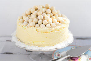 White Chocolate Malteser Cake