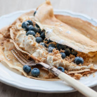 Blueberry and Vanilla Cheesecake Pancakes