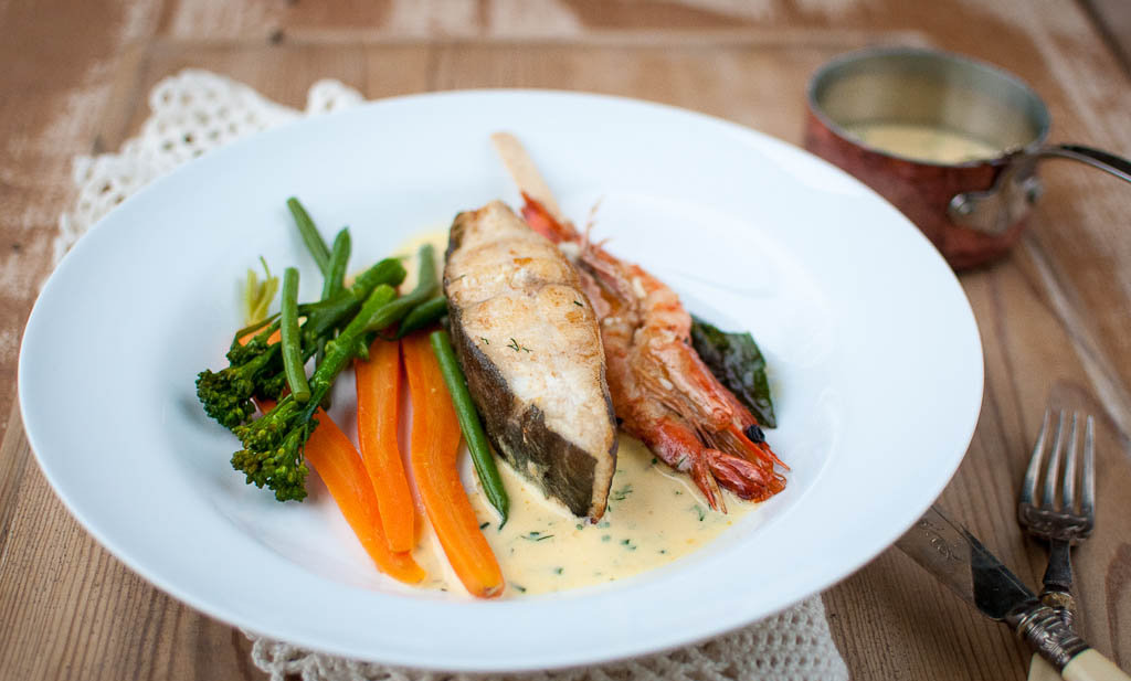 Halibut with Herby Hollandaise