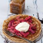 Rhubarb and Ginger Curd Pancake
