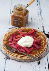 Rhubarb and Ginger Curd Pancake