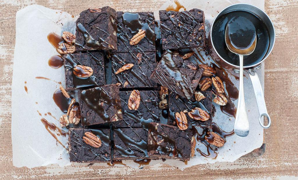 Salted Toffee Brownies