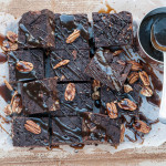 Salted Toffee Brownies