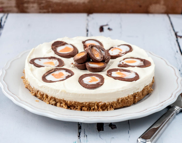 Creme Egg Cheesecake No Bake