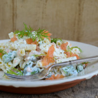 Asparagus, Smoked Salmon and Cream Cheese Pasta