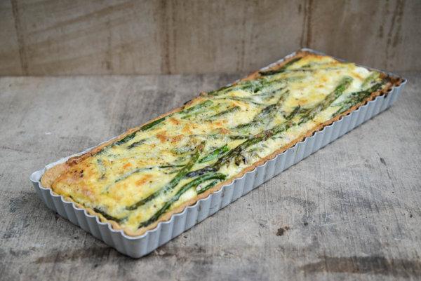 Asparagus and Cheddar Tart