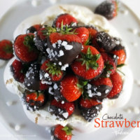 chocolate-strawberry-pavlova