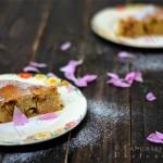 Gluten Free Rhubarb and Rose Cake