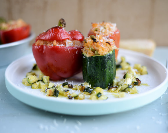Quick Risotto-Stuffed Vegetables