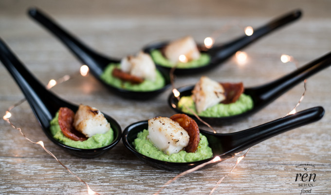 Cod, Chorizo and Pea Puree Bites – Lurpak Cook's Range
