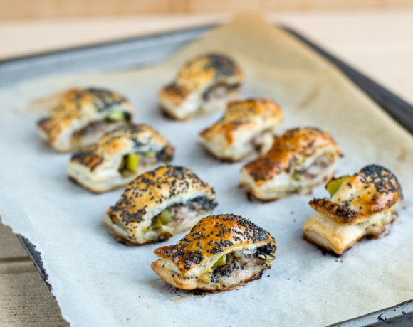 Make-Ahead Leek and Poppy Seed Sausage Rolls