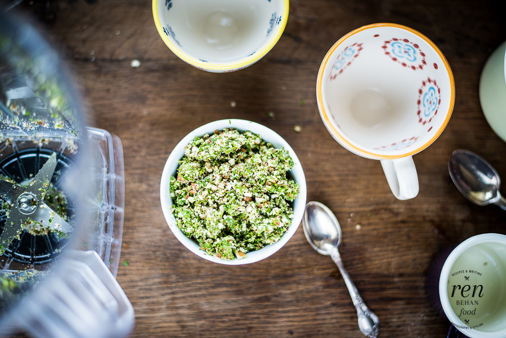 Kale and Almond Crumble