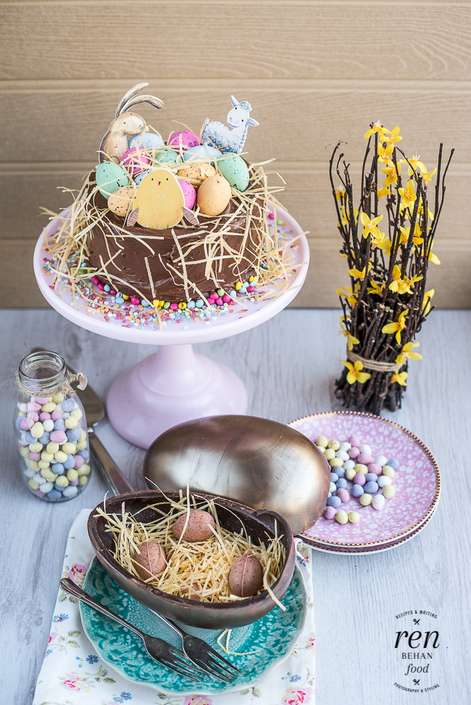 Cake Decorated With Easter Eggs : How to be a #GoodEgg this Easter with Waitrose - Ren Behan ...