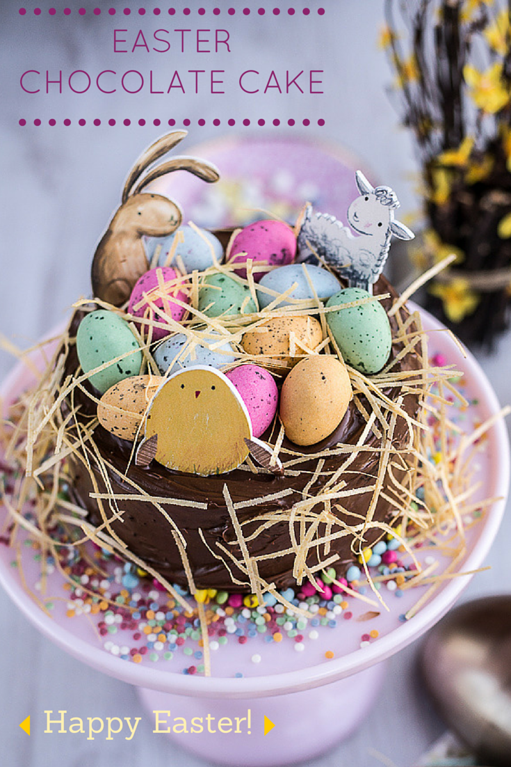 Cake Decorated With Easter Eggs : Recipe: Easter Chocolate Cake - Ren Behan - Author Wild ...